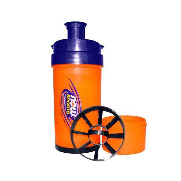 SHAKER NOW SPORTS 3 EN 1 700ml NARANJA-AZUL