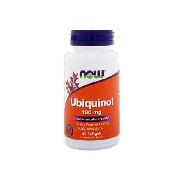 UBIQUINOL 100mg NOW - 60 softgels