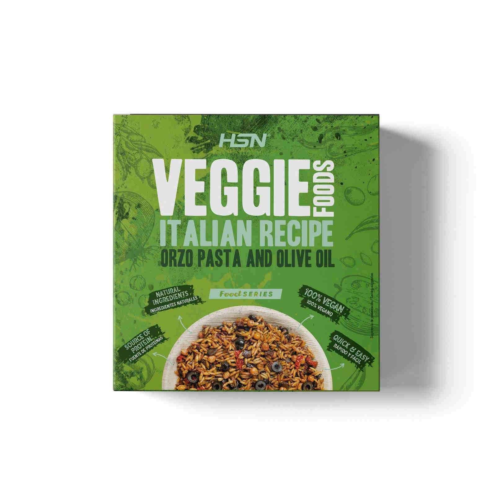 VEGGIE FOODS PASTA ORZO CON ACEITE DE OLIVA ESTILO ITALIANO - 280g