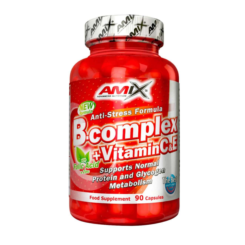 B-COMPLEX + VITAMIN C & E 90 caps