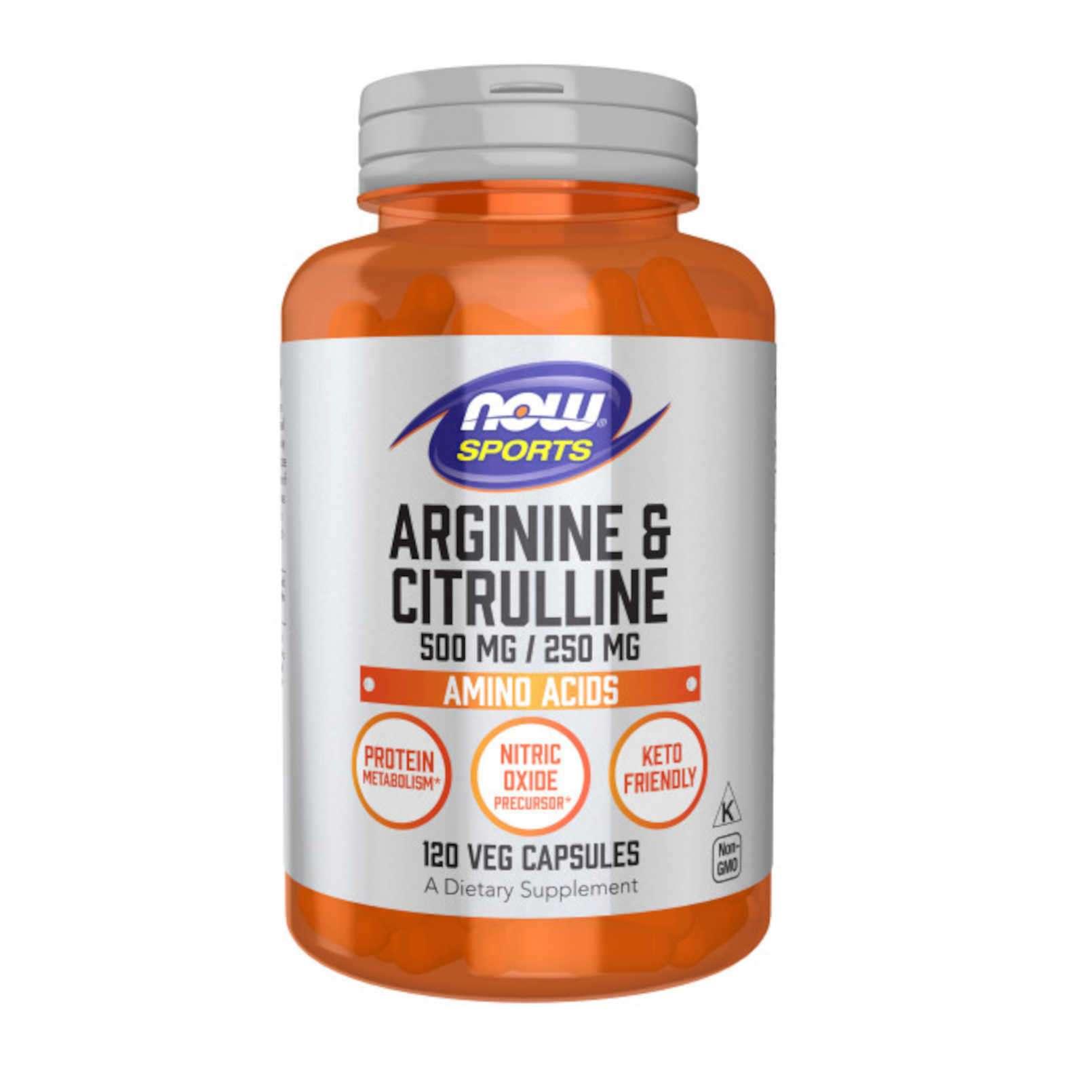 ARGININE & CITRULINE 500mg/250mg - 120 veg caps
