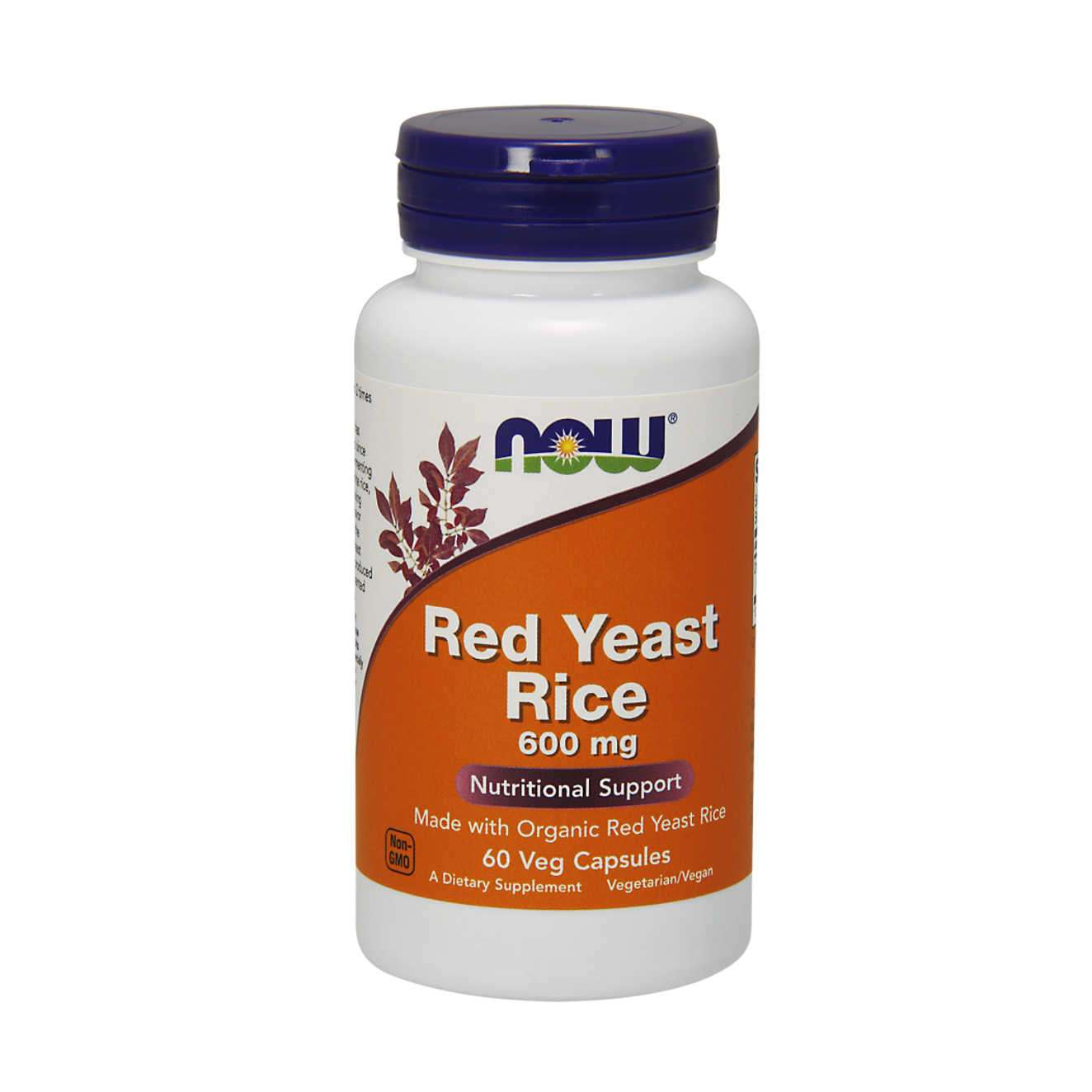 RED YEAST RICE 600mg NOW FOODS- 60 veg caps