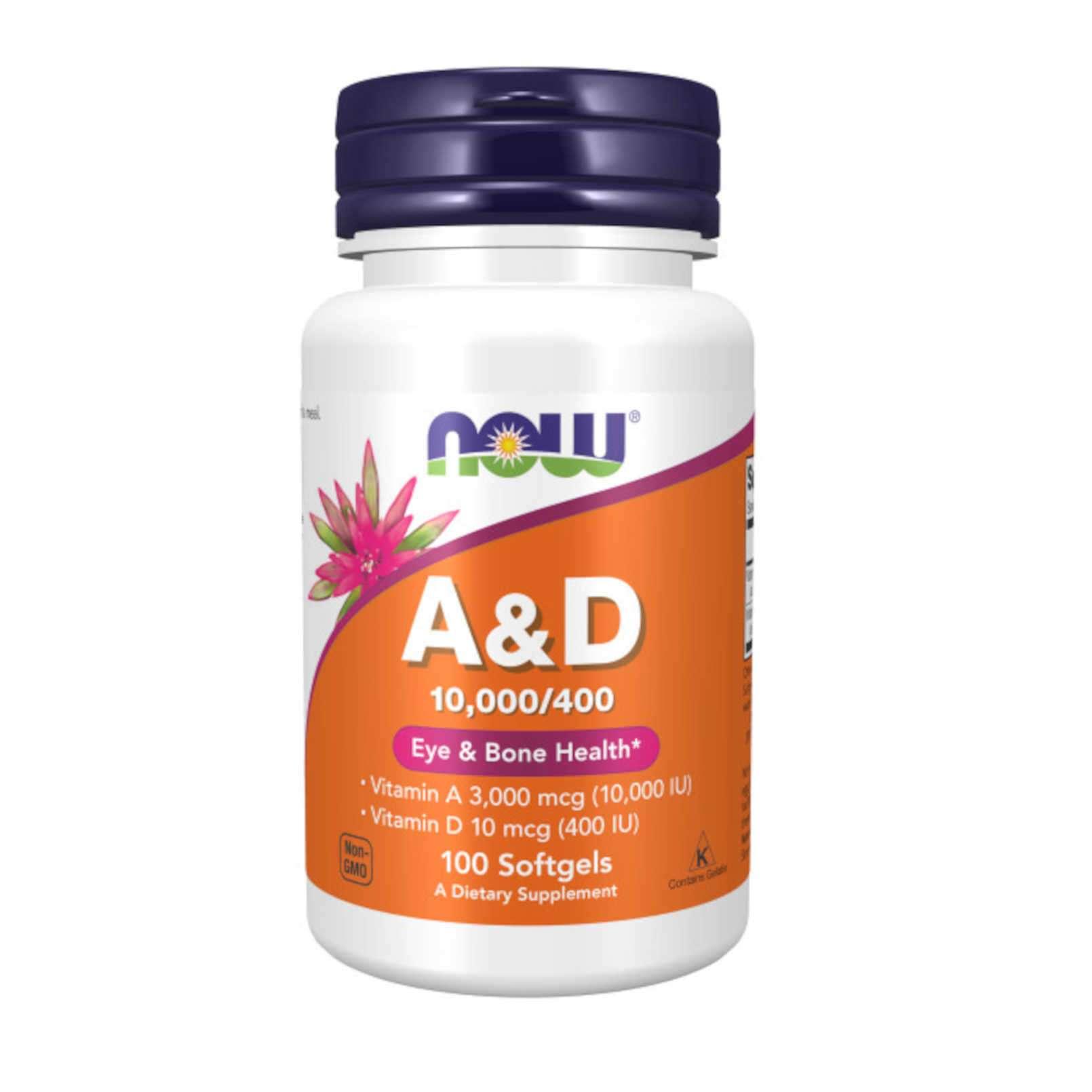 A&D 10000/400IU - 100 softgels