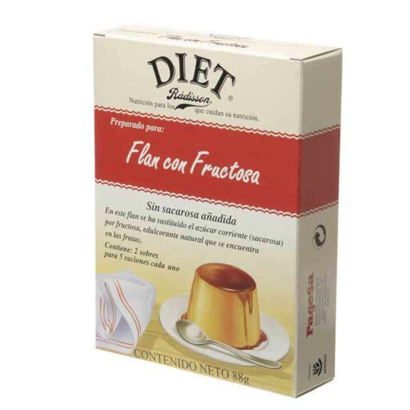 PUDDING MIT FRUCTOSE - 2 x 44 g