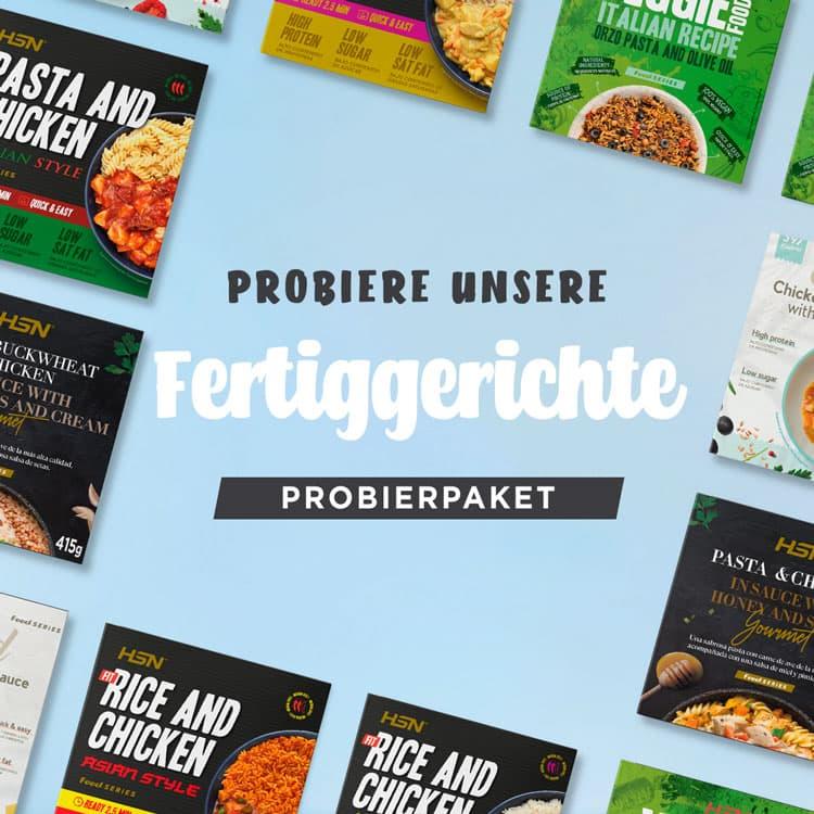 Proteinreiche Fertiggerichte - Probierpaket