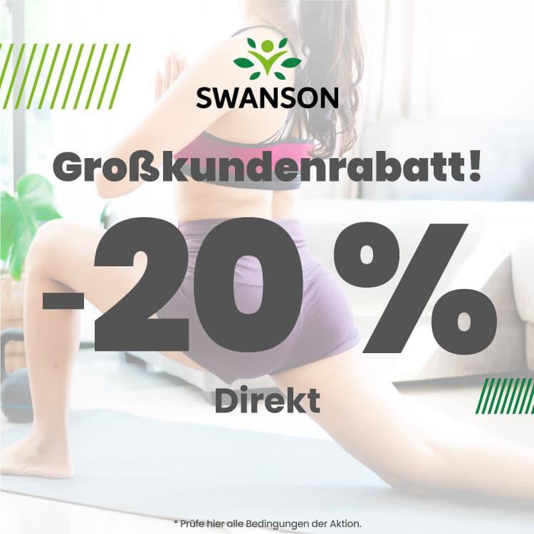 20 % Direktrabatt auf Swanson