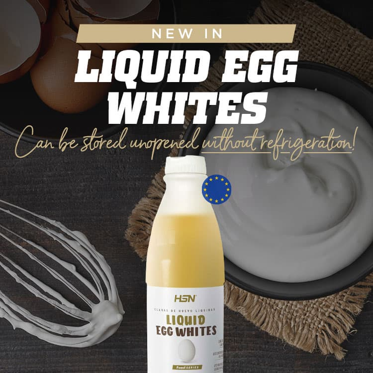 New in 100% Egg whites in liquid form