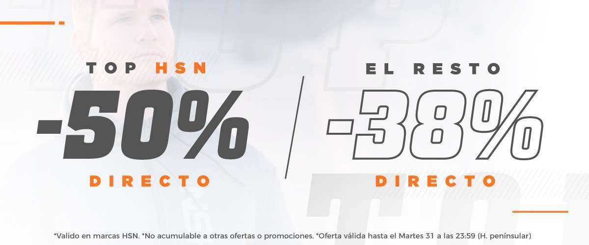 -50% Productos TOP y 38% Resto