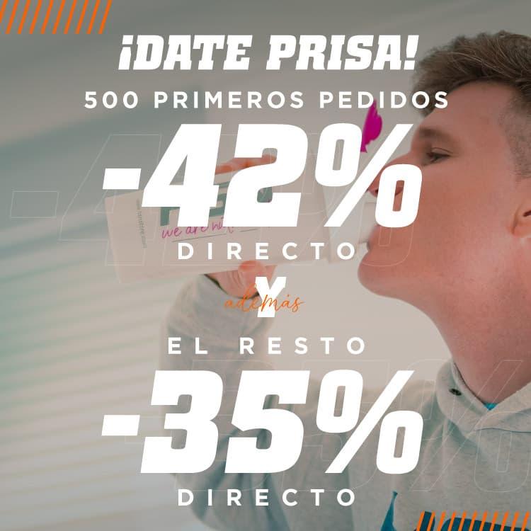 Promo 42% Primeros 500 Pedidos HSN