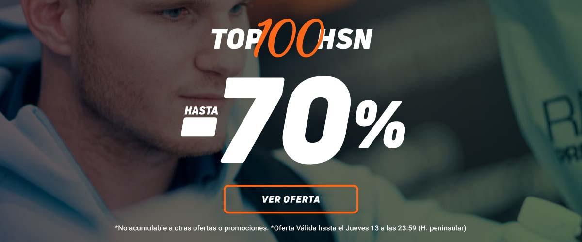 70% en el TOP 100 HSN