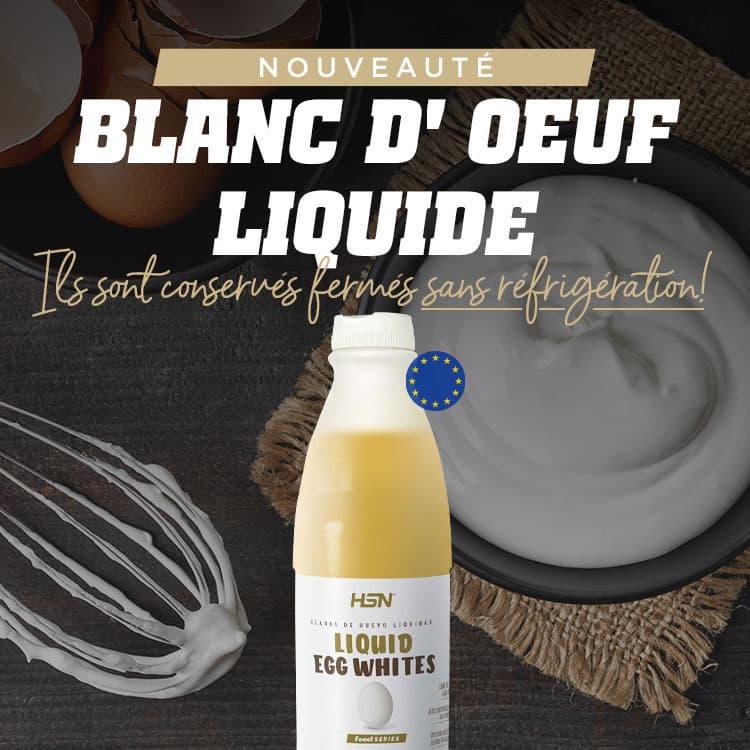 Nouveauté 100 % blanc d'œuf liquide