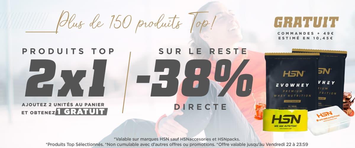 Offerte 2x1 sur des Produits TOP & 38% DTO HSN