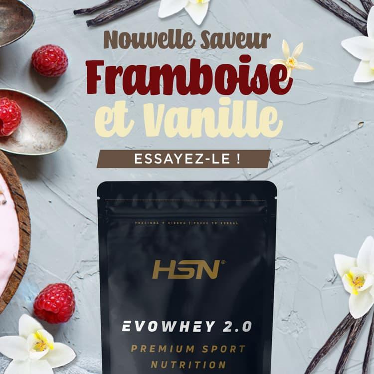 Nouveauté Evowhey Framboise et Vanille