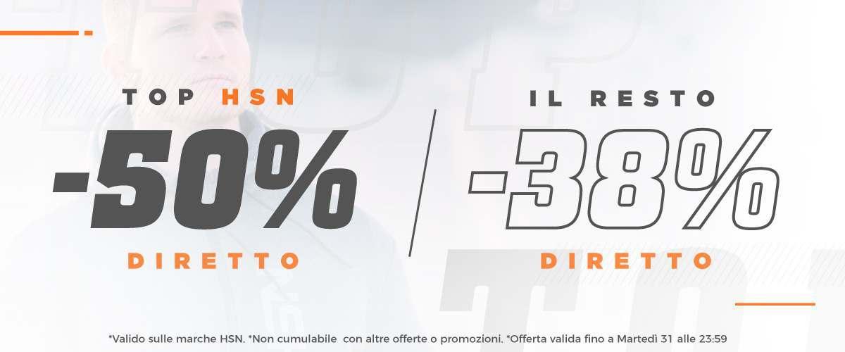 -50% Prodotti TOP e 38% Resto
