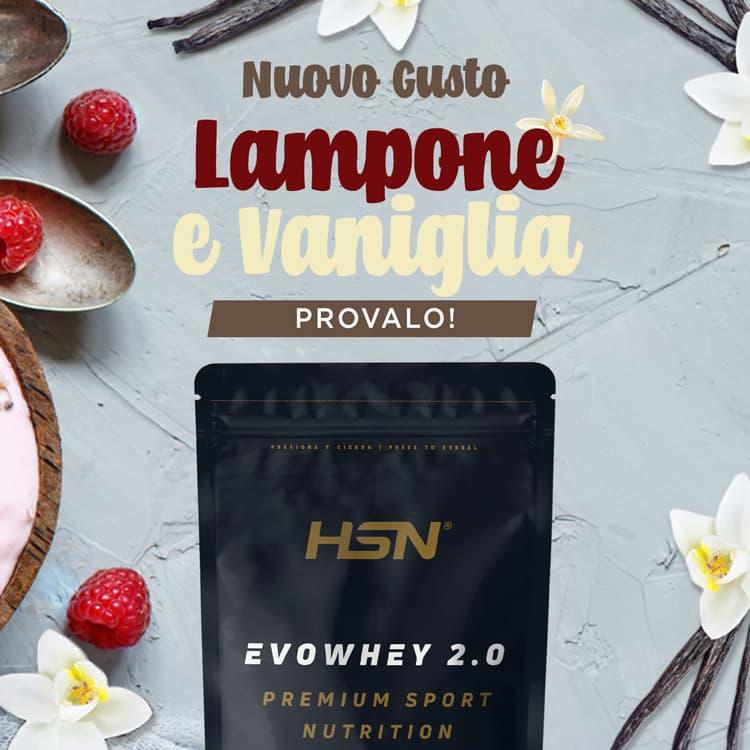 Novità Evowhey Lampone e Vaniglia