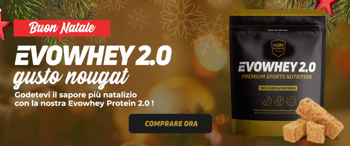 Buon Natale - EVOWHEY PROTEIN 2.0 - Gusto naougat