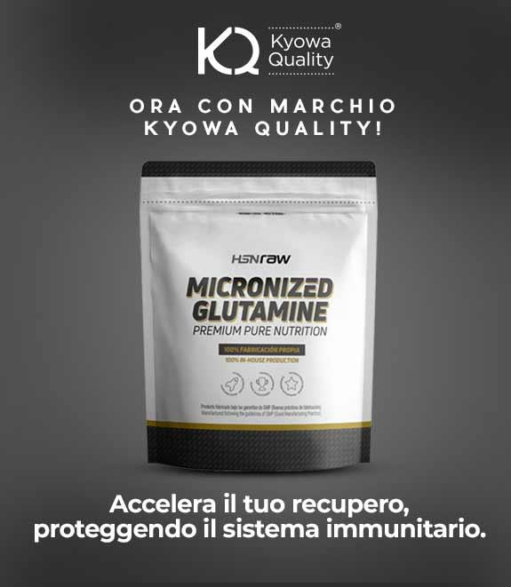 Comprare Glutammina Micronizzata HSNraw