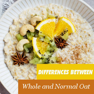 Wholemeal and normal oats