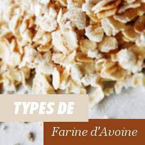Types de farine d'Avoine