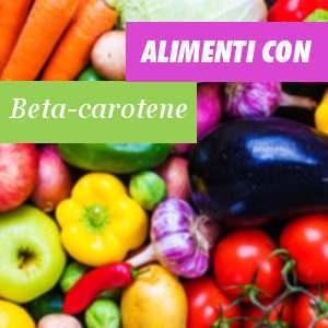 Alimenti ricchi in Beta carotene