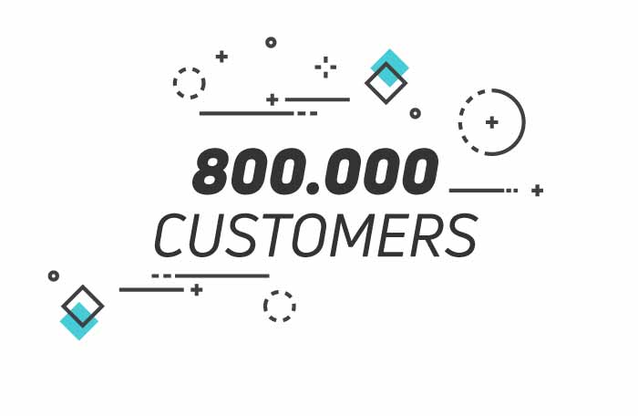+800.000 customers