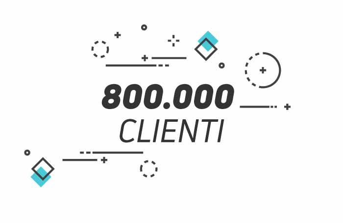 +800.000 clienti