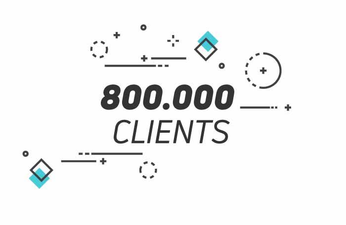 +800.000 clients