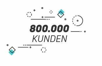 + 800.000 Kunden