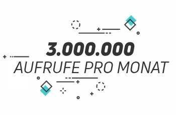 3.000.000 Aufrufe pro Monat