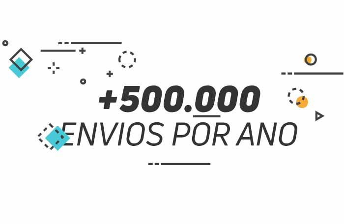 +500.000 envios por ano