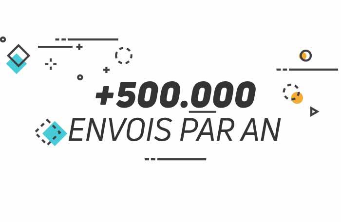 +500.000 envois par an