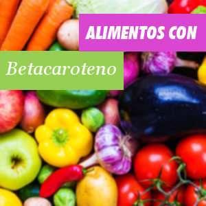 Alimentos ricos en Betacaroteno