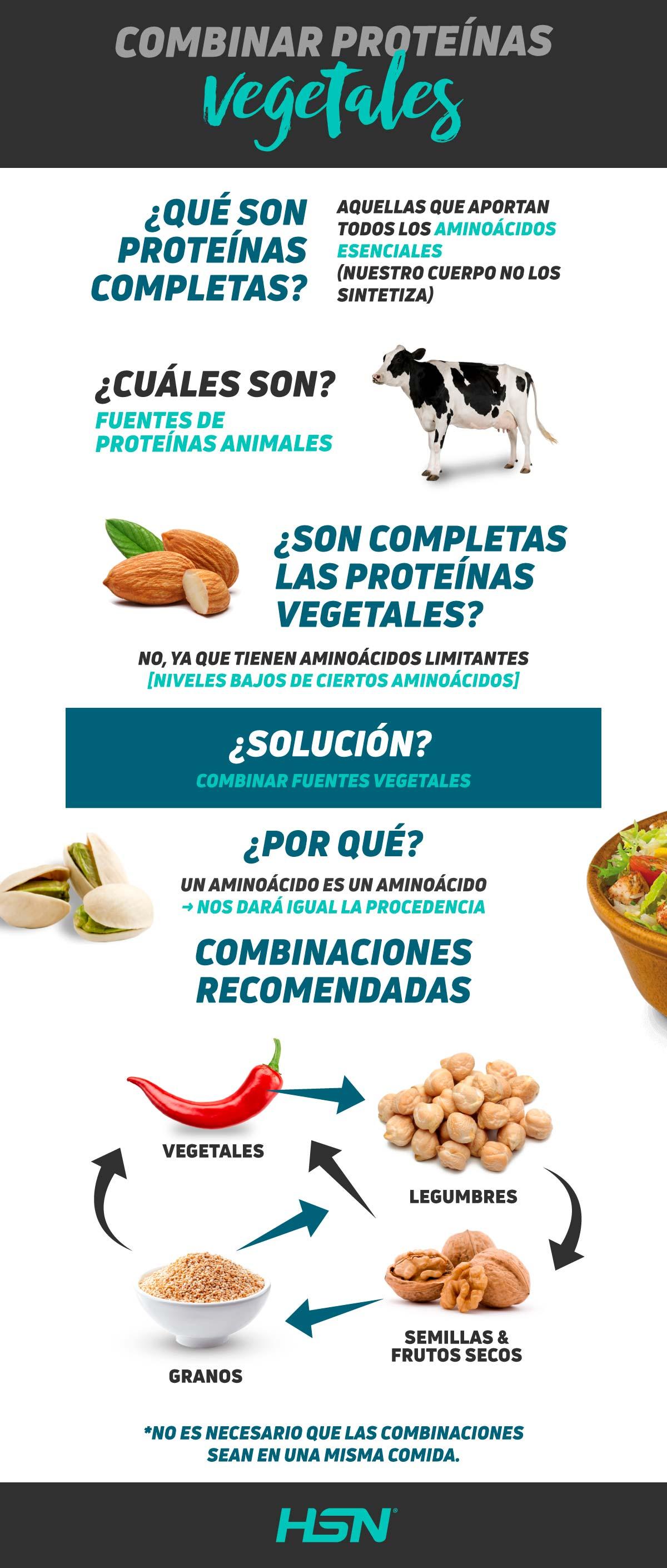 Combinar proteinas vegetales